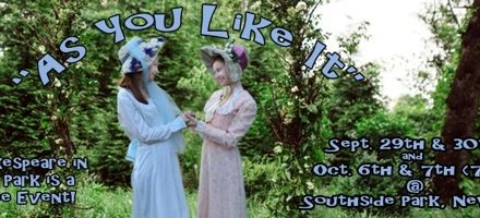 The Green Room's As You Like It, Free Sept. 29 & 30 And Oct. 6 & 7