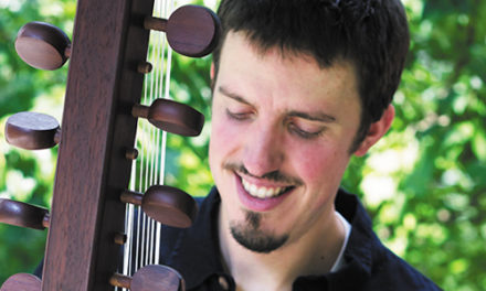 Sean Gaskell Free Concert On 21 String Harp Oct., 23, At Library