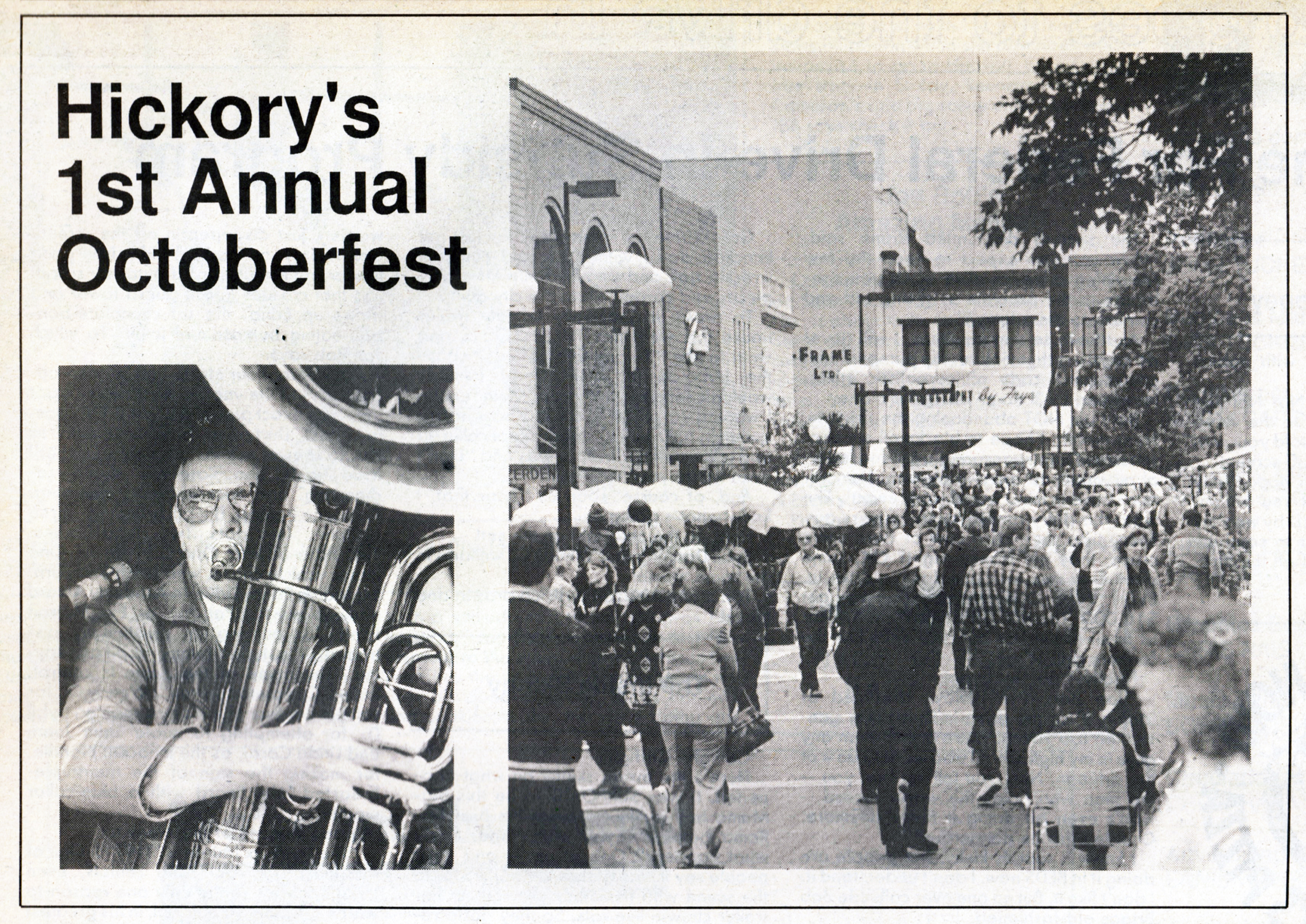Photos from Hickory's 1st Annual Oktoberfest published October 16, 1986.