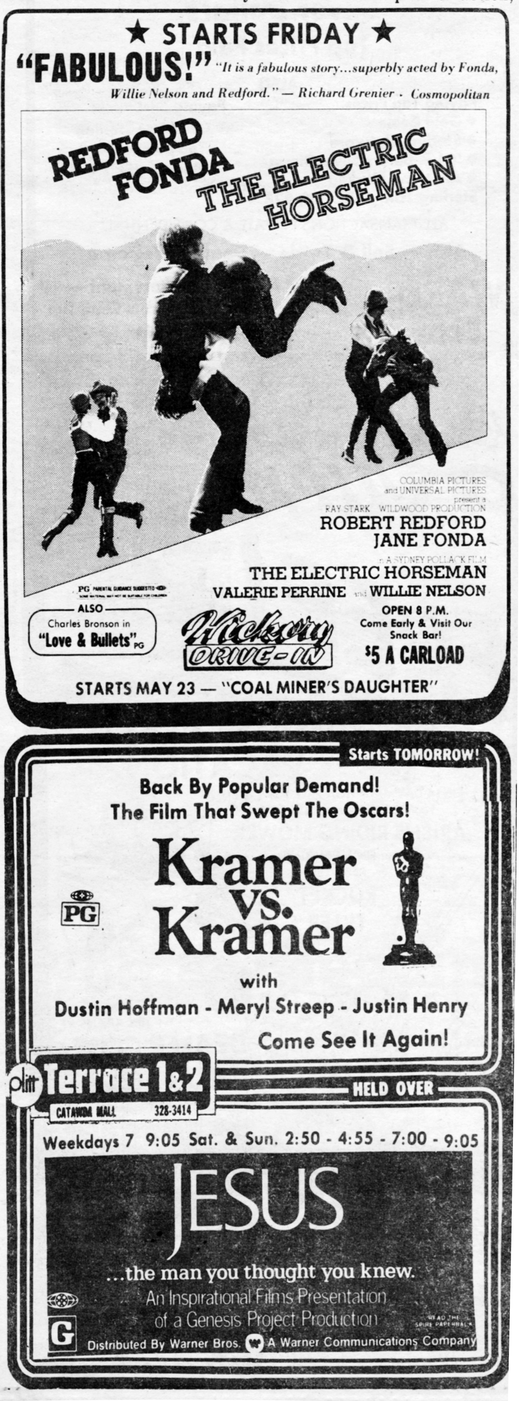 Movie Advertisements published May 8, 1980.