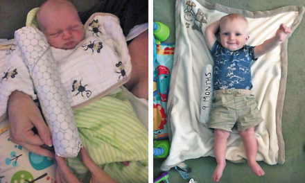 Clever Dad Measures Baby's Growth With Cheesesteaks