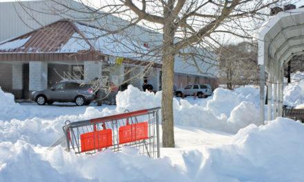 Shoplifter Gets Stuck In Snow