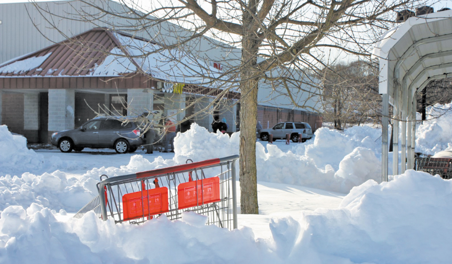 Shoplifter Gets Stuck In Snow