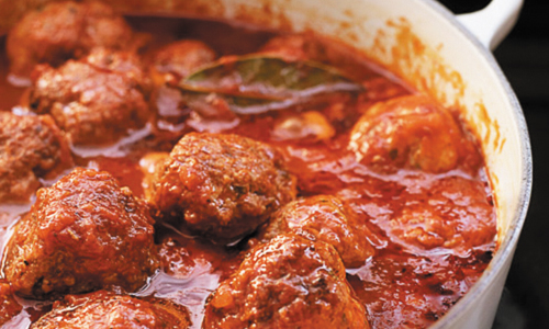 Man With Red Sauce On Face Charged With Meatball Theft