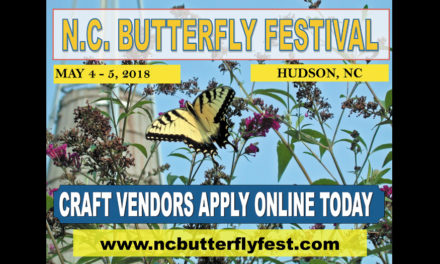 Town Of Hudson's North Carolina Butterfly Festival Is Friday & Saturday, May 4 & 5