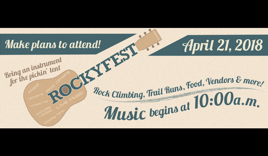 Don't Miss RockyFest Saturday,  April 21, At Rocky Face Park