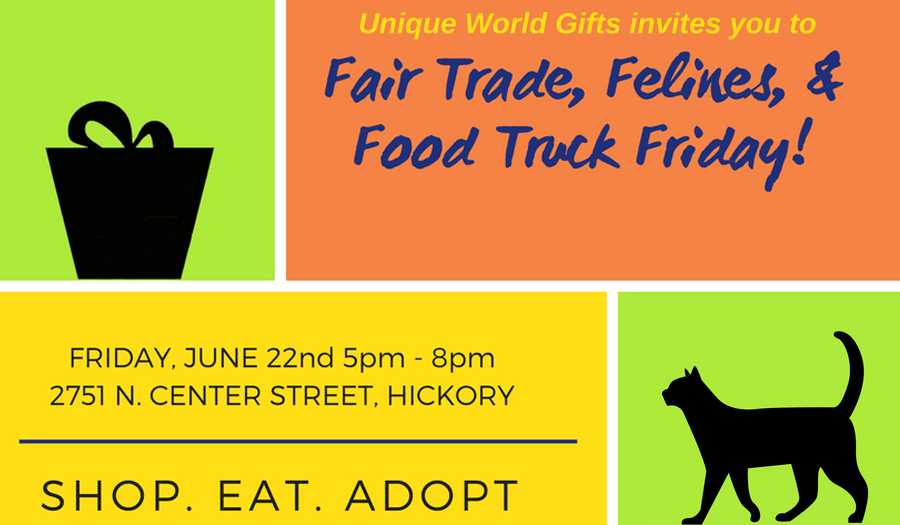 Unique World Gifts & Cats' Cradle Benefit On Fri., June 22: Fair Trade, Felines & Food Truck Night