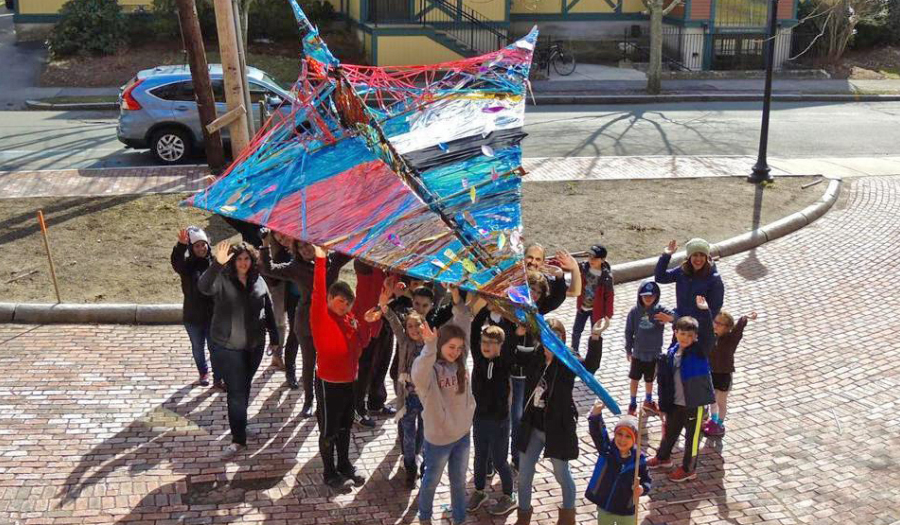 Residents Try To Break World  Record For Largest Paper Plane