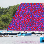 Artist Christo's Mastaba Is Now Floating On A London Lake