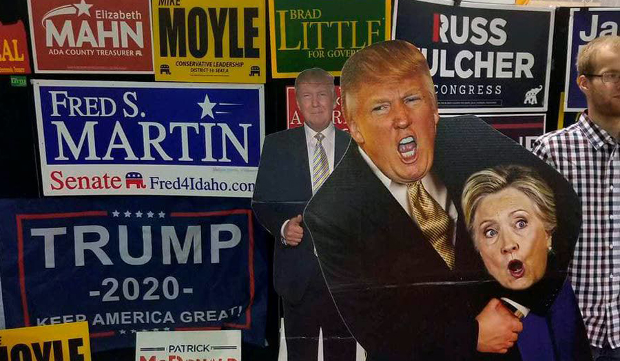 Idaho GOP Group Displays 'Un-Classy' Trump/Clinton Cutout At Western Idaho State Fair