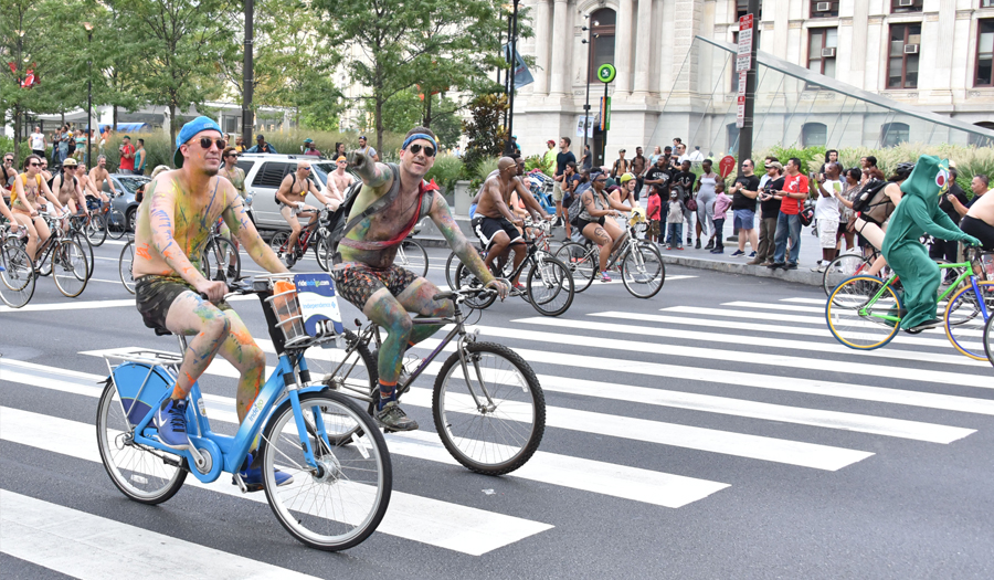 Hundreds Of Bicyclists Ride Nude To Protest Fossil Fuels