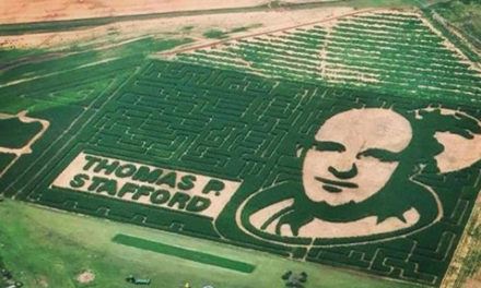 Oklahoma Astronaut Corn Maze Photographed From Space