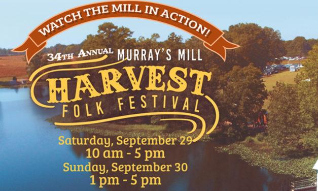 Murray's Mill Harvest Folk Festival, September 29 & 30, In Catawba
