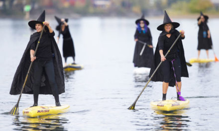 Witches Take To The Water & Paddle On Oregon River
