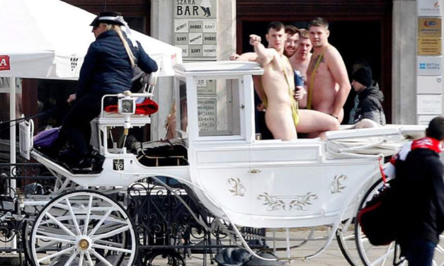 Uhm…Mankinis And Horse Cabs Don't Work Well Together