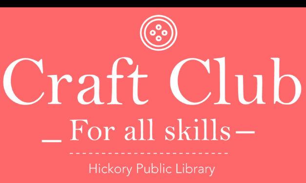 Craft Club At Patrick Beaver Library, Every Monday At 6pm