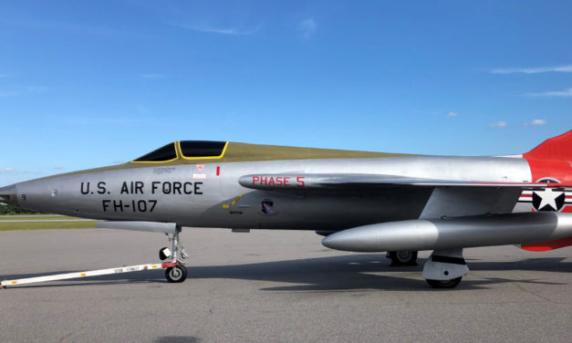 Restored F-105 Thunderchief Now At Hickory Aviation Museum
