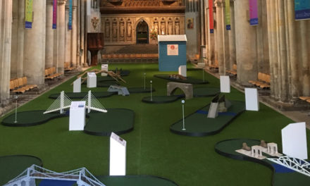Putts Join Prayers Since  Cathedral Added Mini-golf