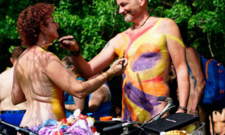 Bikers Strip Down And Saddle Up For Annual Naked Bike Ride