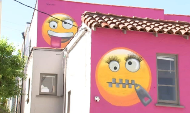 Community In An Uproar Over Giant Emoji Painted On House