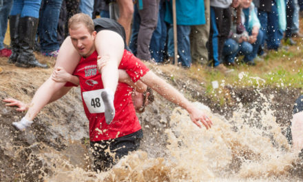 Team Lovebirds Win Wife  Carrying Competition In Maine