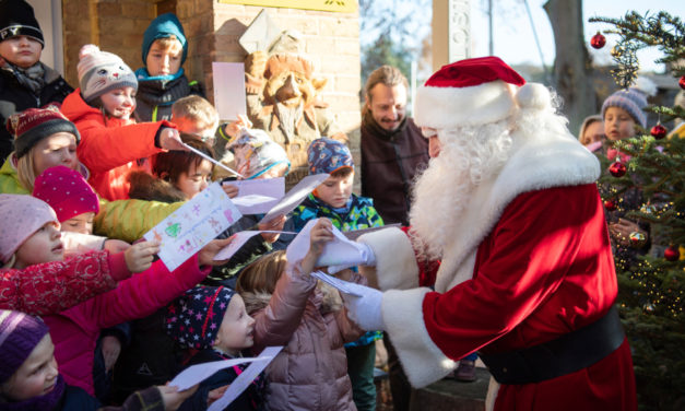 Santa Claus Back On Duty  Answering Christmas Mail