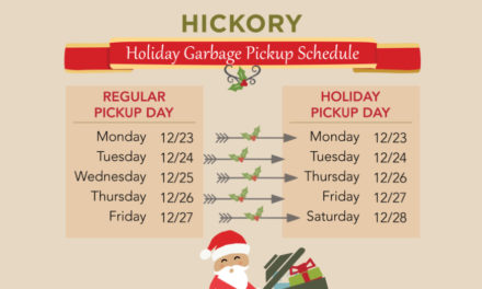 Hickory Facility Closings And Garbage Pickup Schedule