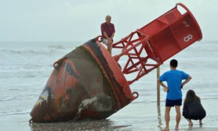 Big Red Buoy Missing For 2 Years Found Beached In Florida