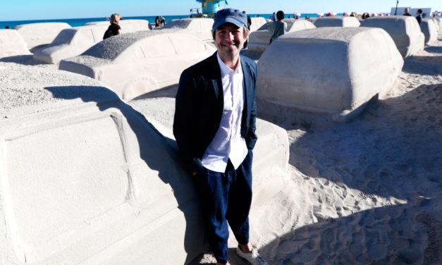 Florida Beach Unveils Traffic Sculpture Made Of Sand
