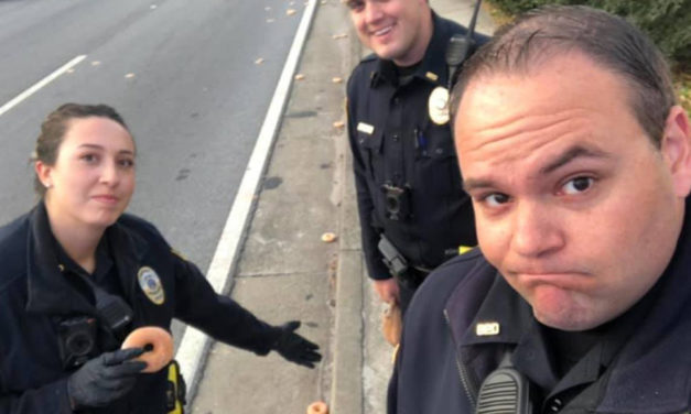 Kind Act Eases Police Sorrow Over Spilled Doughnuts
