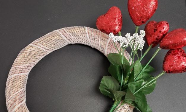 Make A Valentine Wreath At Beaver Library Craft Club, 2/3