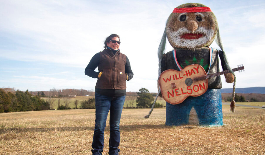 On The Farm Again… In Honor Of Hay Replica Of Willie Nelson