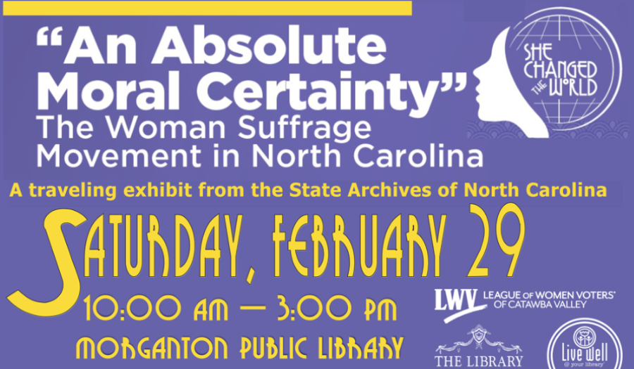 League Of Women Voters Of CV Celebrates 19th Amendment With One Day Exhibit, Feb. 29