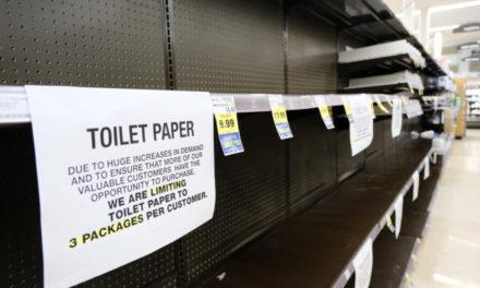 Man Runs Toilet Paper Exchange On California Street Corner