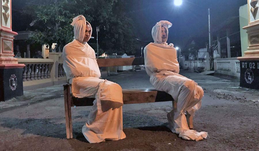 'Ghosts' Volunteer To Scare Villagers During Lockdown