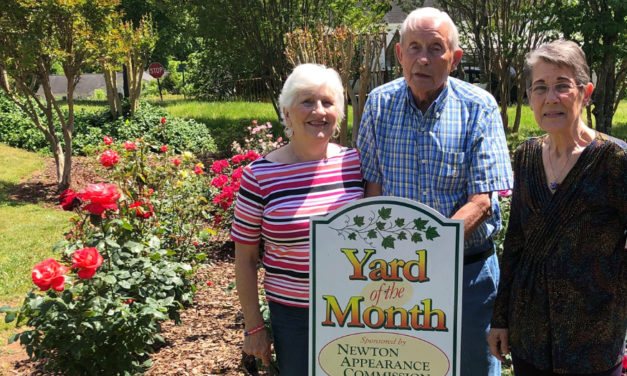 Newton Presents Max Connor With Yard Of The Month Honor For May