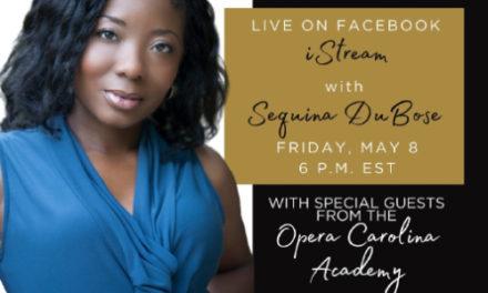 Opera Carolina Presents iStream Digital Concert Series, May 8th