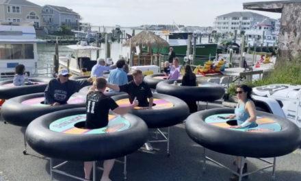 Restaurant Bouncing Back Amid Virus Debuts 'Bumper Tables'