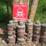 Cambodian Man Uses Live Land Mines As Yard Decorations