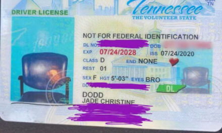 Woman Receives Tennessee ID With Photo Of Empty Chair