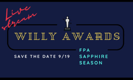 FPA's Willy Awards Will Be On Facebook Live, 9/19, At 7PM