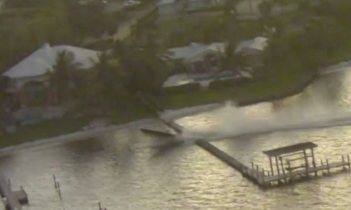 Driverless Boat In Florida Spins Of Control, Smashing Docks