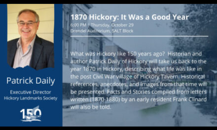 1870 Hickory: It Was a Good Year, Drendel Auditorium, 10/29