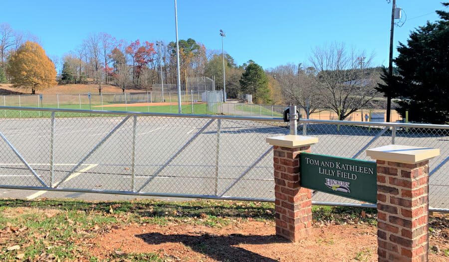 Lilly Family Donates To Support  Recreation Baseball & Softball  In City Of Hickory Parks