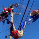 Santa Rescued From Power Lines In Northern California