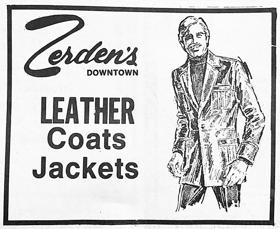 Zerdens ad published on 12.13.84