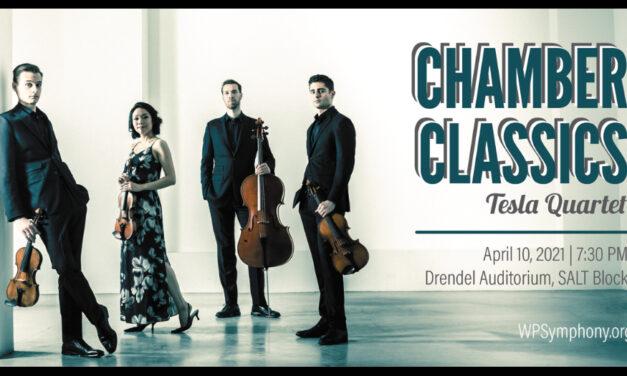 Tesla Quartet Returns For WPS Chamber Classics, April 10