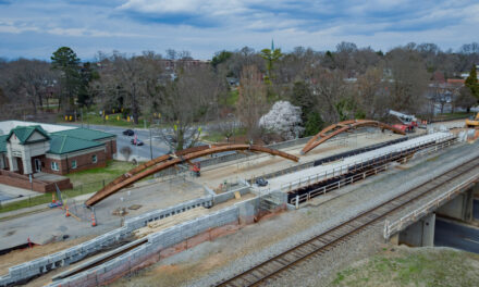Iconic City Walk Wooden Bridge Arches To Be Future Landmark