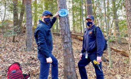 Emergency Marker System  Installed For Lake Hickory Trails
