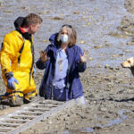 Nurse, Capturing The Feeling Of A Nation, Gets Stuck In Mud